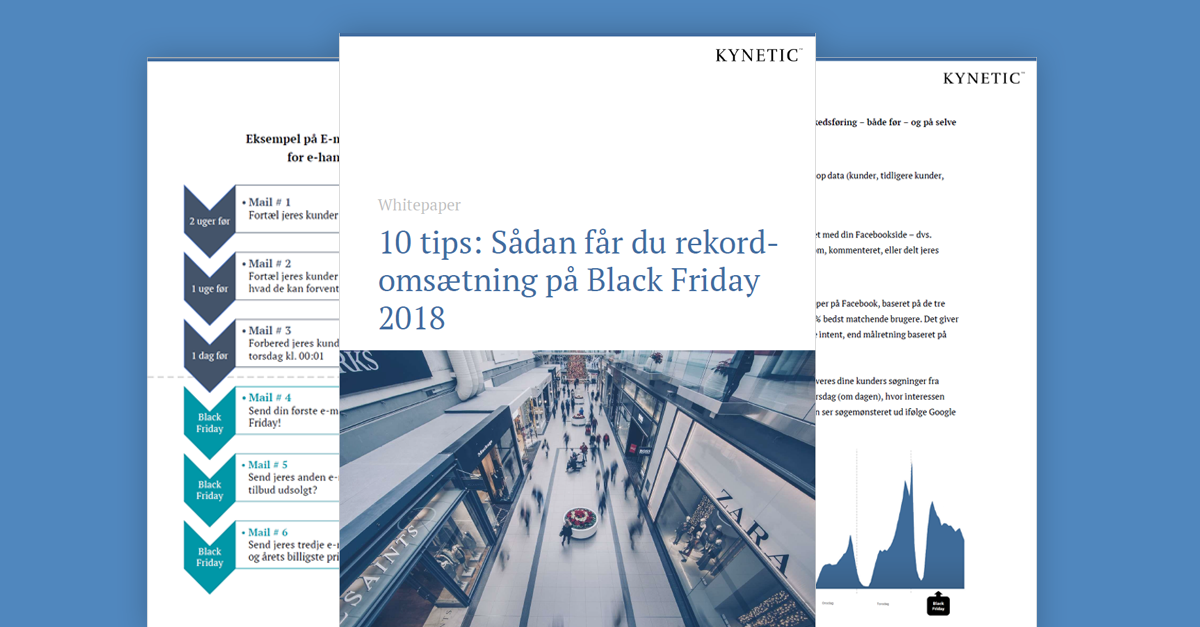Black Friday 2018 whitepaper med 10 tips til en effektiv digital marketing indsats