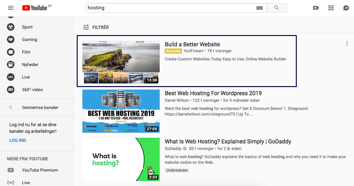 YouTube Discovery Ads